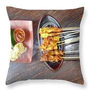 Balinese Traditional Satay Throw Pillow