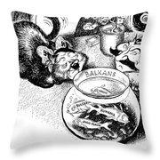 Balkan Cartoon, 1939 Throw Pillow