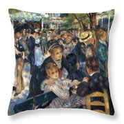 Ball At The Moulin De La Galette 1876 Throw Pillow