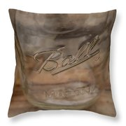 Ball Mason Jar Throw Pillow