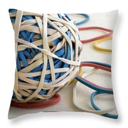 Ball Of Bands Throw Pillow