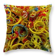 Ball Of Chihuly Glass Throw Pillow
