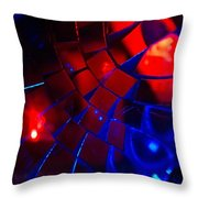 Ball Of Color - Red Throw Pillow