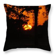 Ball Of Sun Throw Pillow