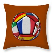 Ball With Flag Of France In The Center Throw Pillow