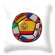 Ball With Flag Of Spain In The Center Throw Pillow