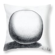 Ball With Shadow Throw Pillow