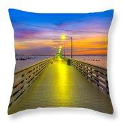 Ballast Point Sunrise - Tampa, Florida Throw Pillow