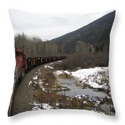 Ballast Train Throw Pillow