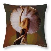 Ballerina Art 0421 Throw Pillow
