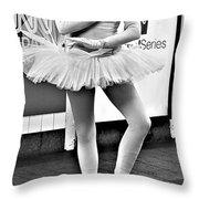 Ballerina B W Throw Pillow