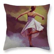 Ballerina Dance 0391 Throw Pillow