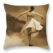 Ballerina Dance 0530 Throw Pillow
