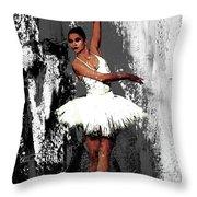 Ballerina Dance 073 Throw Pillow