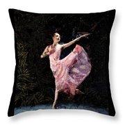 Ballerina Dancing Expressive Throw Pillow
