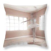 Ballerina Ghost Throw Pillow