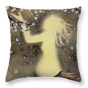 Ballerina Maternity Throw Pillow