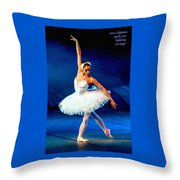 Ballerina On Stage L A Nv Throw Pillow