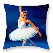 Ballerina On Stage L B Throw Pillow