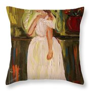 Ballerina Preparation Throw Pillow