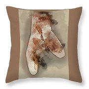 Ballerina Shoes - By Diana Van Throw Pillow