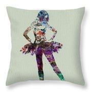 Ballerina Watercolor Throw Pillow