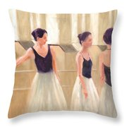 Ballerinas Waiting Throw Pillow