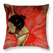 Ballerine Rouge Throw Pillow