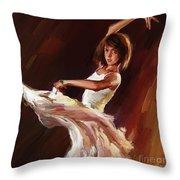 Ballet Dance 0706  Throw Pillow