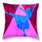 Ballet Dancer Throw Pillow by David G Paul