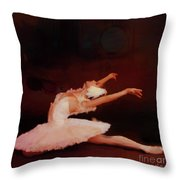 Ballet Dancer In White  Throw Pillow