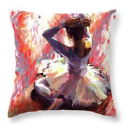 Ballet Dancer Siting  Throw Pillow