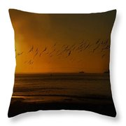 Ballet In The Golden Sunrise, Early Fall. Throw Pillow