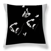 Ballet Silouette Throw Pillow