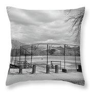 Ballfields Throw Pillow