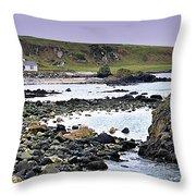 Ballintoy Cottage Throw Pillow