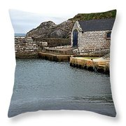 Ballintoy Quayside Throw Pillow