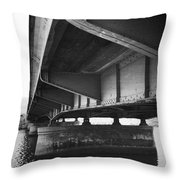 Ballona Creek Bridge Throw Pillow