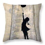 Ballons Girl Throw Pillow