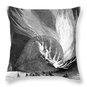 Balloon Accident, 1850 Throw Pillow