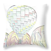 Balloon Day Throw Pillow