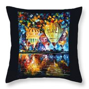 Balloon Festival Throw Pillow