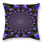 Balloon Flower Kaleidoscope Throw Pillow