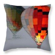Balloon Glow Throw Pillow