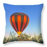 Balloon Launch Throw Pillow