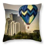 Balloon Over Reno Throw Pillow