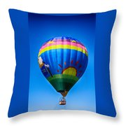 Balloon Over Wine Country Throw Pillow