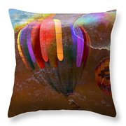 Balloon Race Throw Pillow