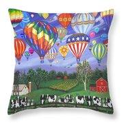 Balloon Race Two Throw Pillow