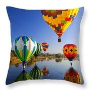 Balloon Reflections Throw Pillow